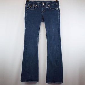 True Religion Jeans Joey Dark Wash Flare Leg 27
